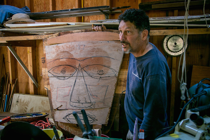 Mark Olivier in Studio