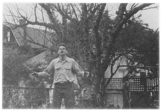 Ginsberg in backyard
