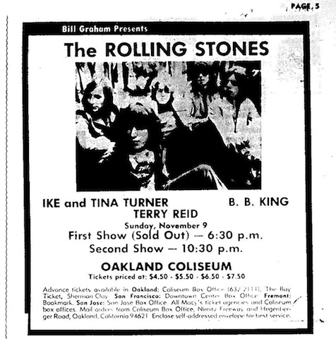 Rollilng Stones Oakland