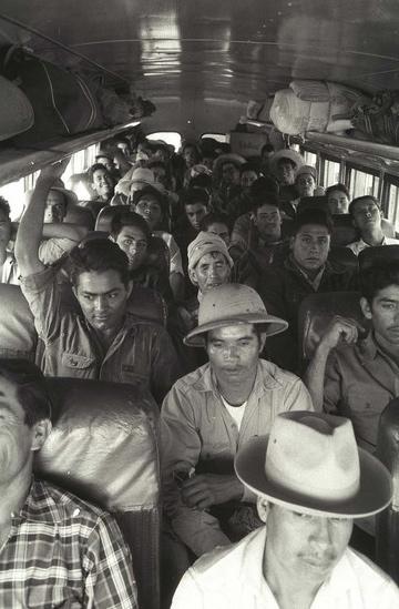 Braceros in bus