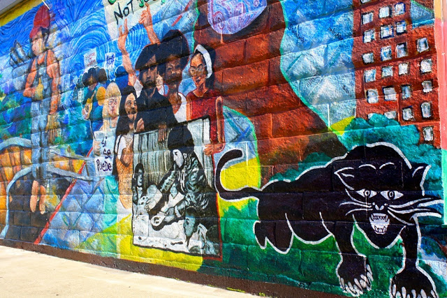 quirky berkeley black panther murals ForBlack Panther Mural