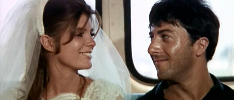 The Graduate (1967): running away from wedding, happy