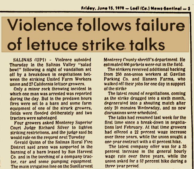 Newspaper Violence