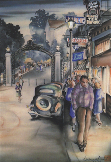 Obata Dusk at Sather Gate 1939