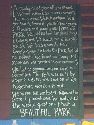 Peoples Park Words