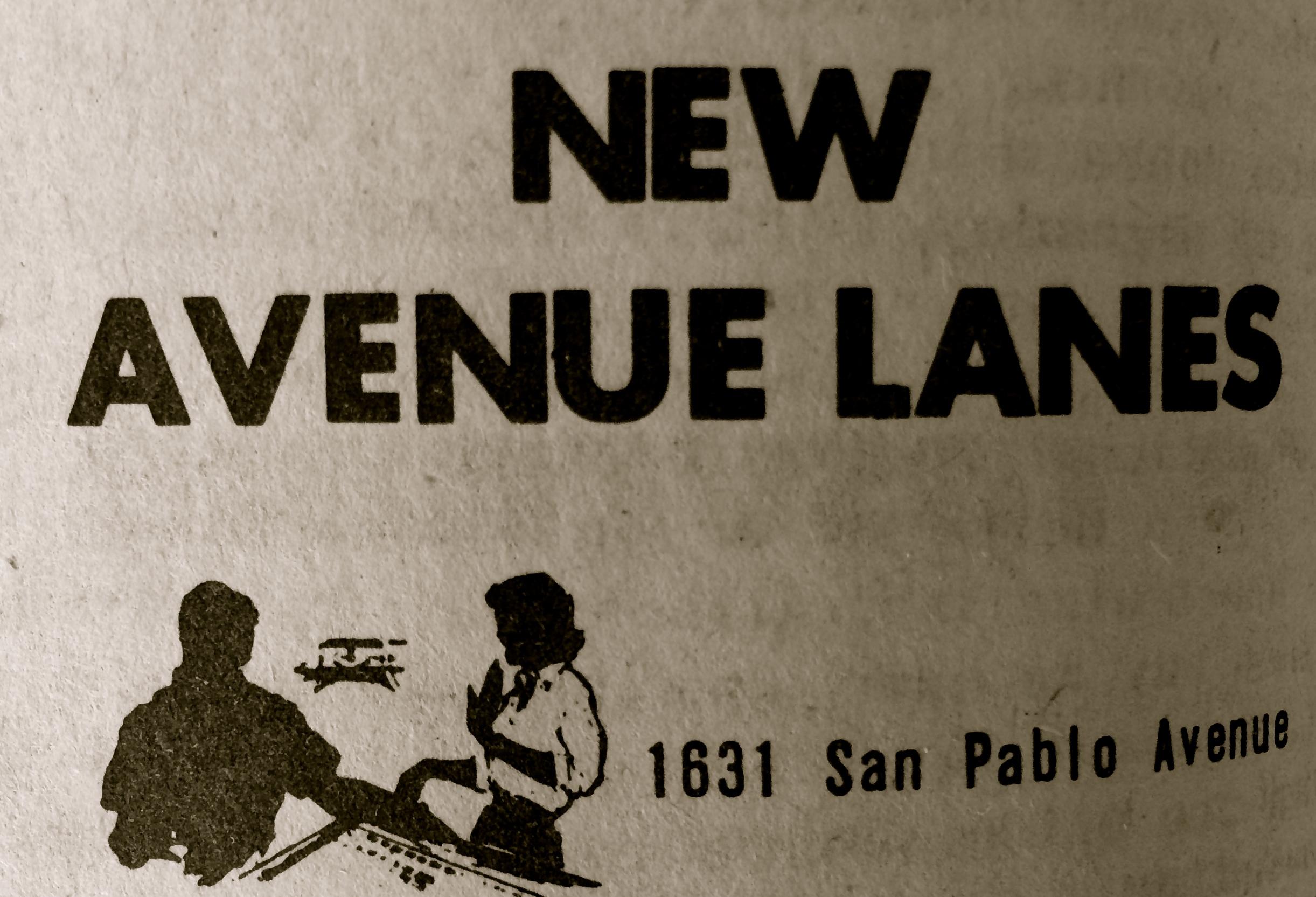 New Avenue Lanes, 1631 San Pablo