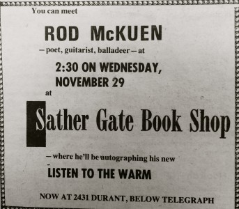 Sather Gate Rod McKuen