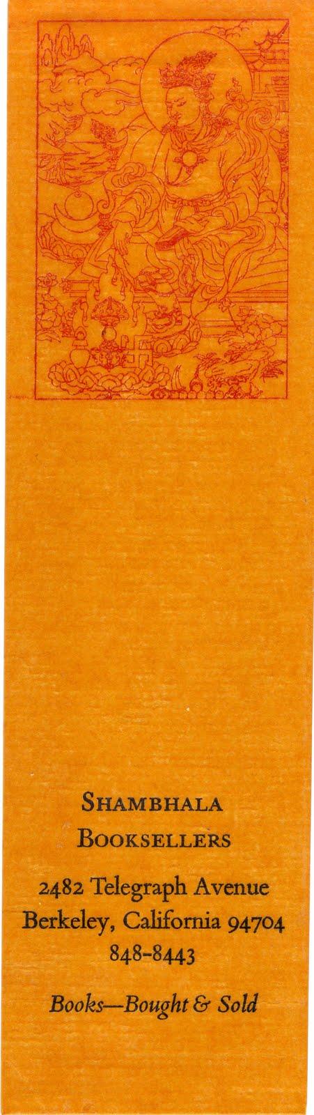Shambala Bookmark