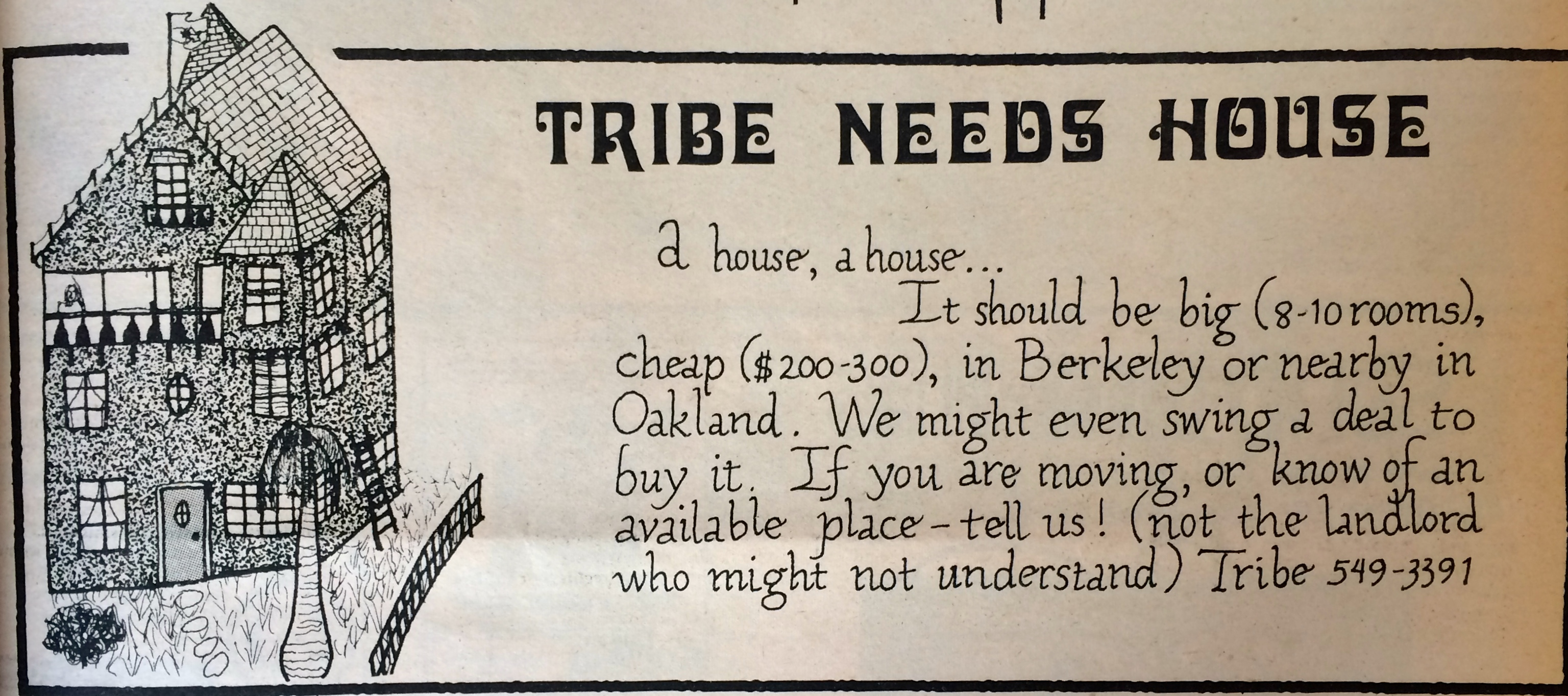 Tribe Needs Home  1971