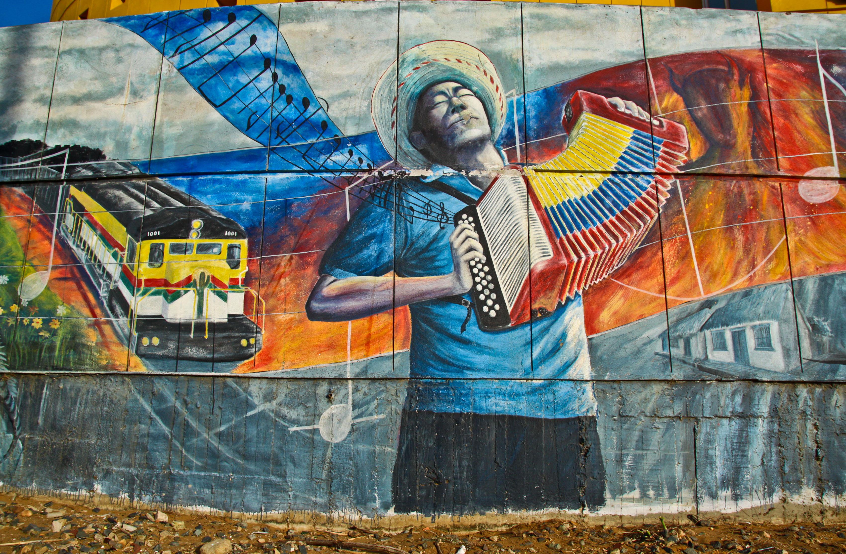 Accordion mural Riochacha Colombia