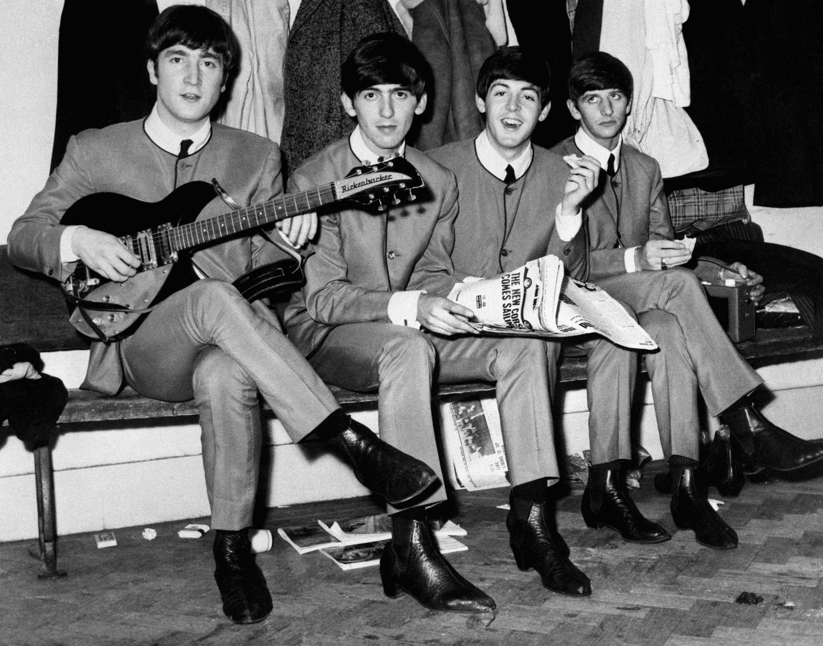 Beatles-in-collarless-Nehru-Jackets