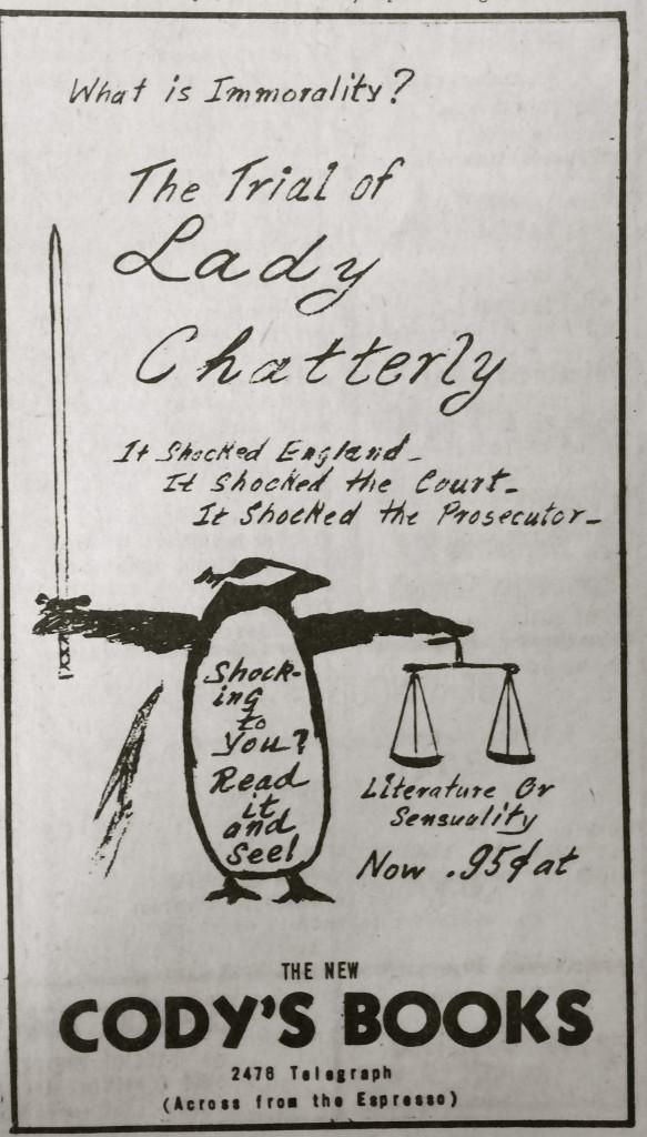 Cody's Telegraph Ad 1960