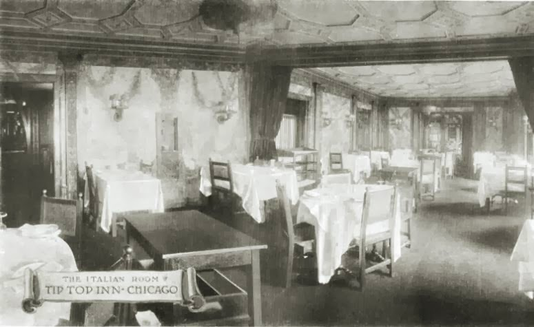 POSTCARD - CHICAGO - THE ITALIAN ROOM - TIP TOP INN - THE PULLMAN BUILDING - c1910