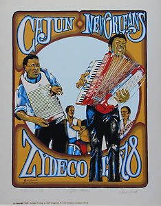 Poster Zydeco New Orelans
