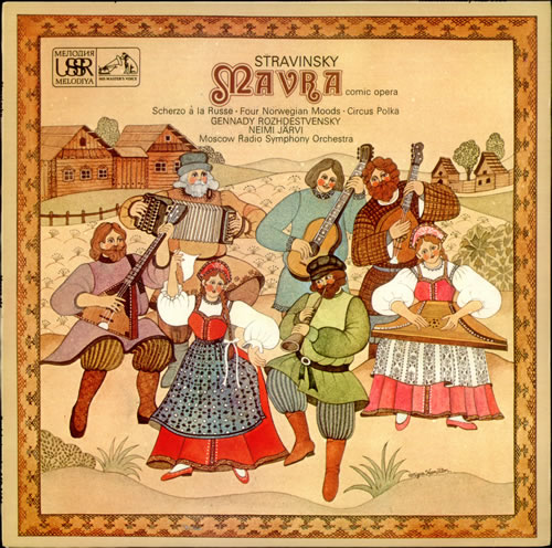Stravinsky+-+Mavra+Scherzo+a+la+Russe+Four+Norwegian+Moods+&+Circus+Polka+-+LP+RECORD-534748