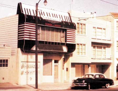 Theodore School of Music, Union Street, San Francisco (gone now)