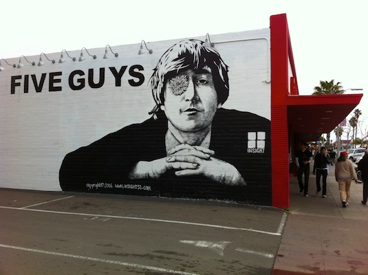 Quirky Berkeley Beatles Mural