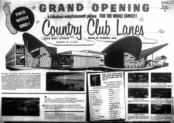Country Club Lanes Ad