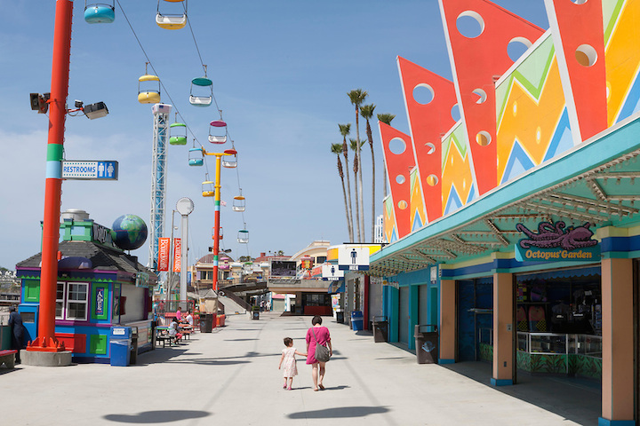 Santa Cruz Boardwalk with family