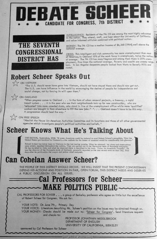 Scheer Ad Citizen 1966