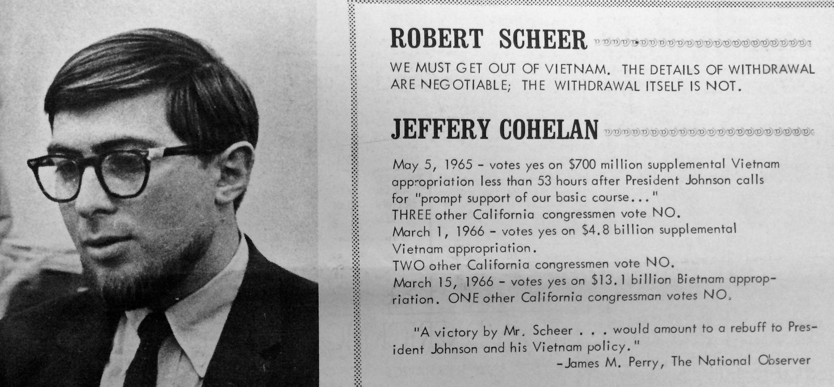 Scheer Calls out Cohelan Citizen 1966