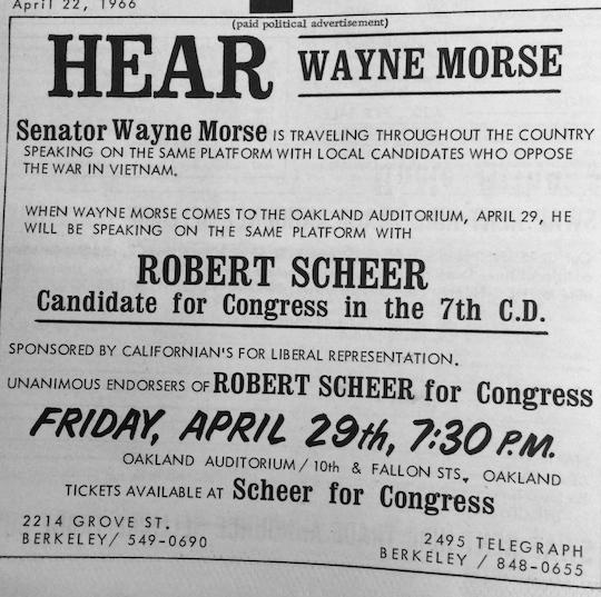 Scheer Wayne Morse Citizen 1966