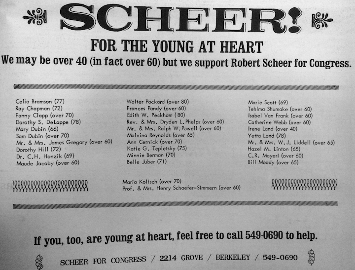 Scheer Young at Heart Citizen 1966
