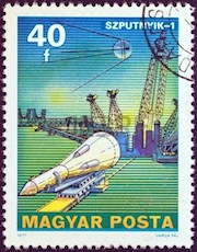 13824265-hungary--circa-1977-a-stamp-printed-in-hungary-from-the-space-research-issue-shows-sputnik-1-circa-1