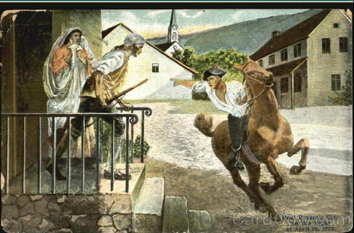 Paul Revere's Ride On The Night Of April 18 1775
