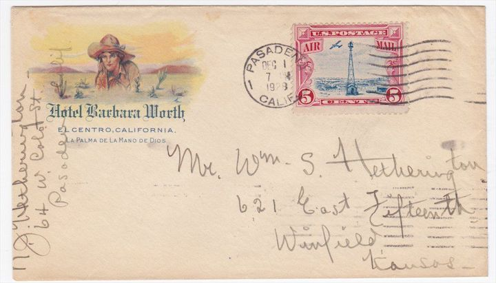 Barbara Worth Hotel Envelope
