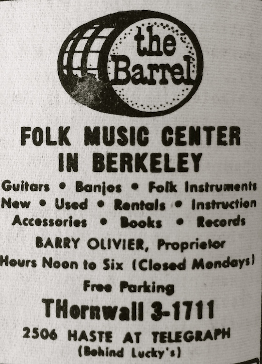 Barrel Folk Music Center