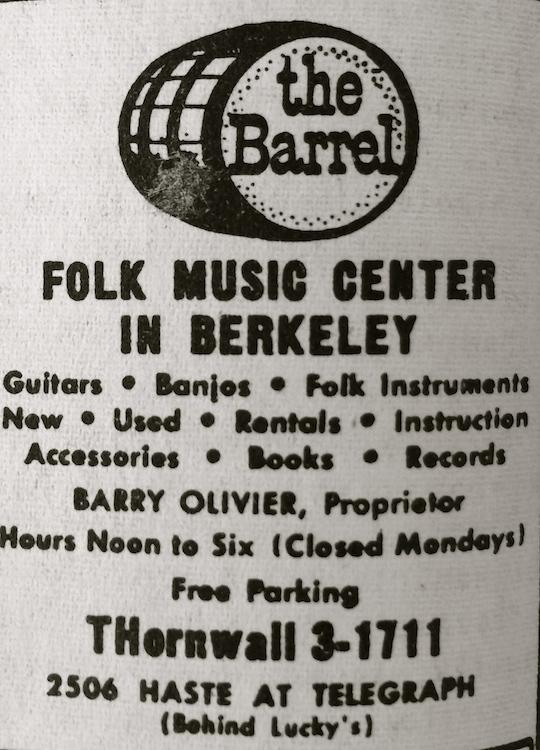 Barrel Folk Music Center