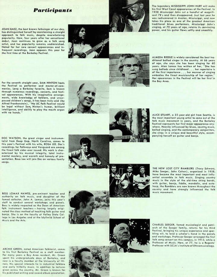 Berkeley Folk 1964-2