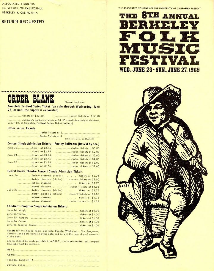 Berkeley Folk 1965-1