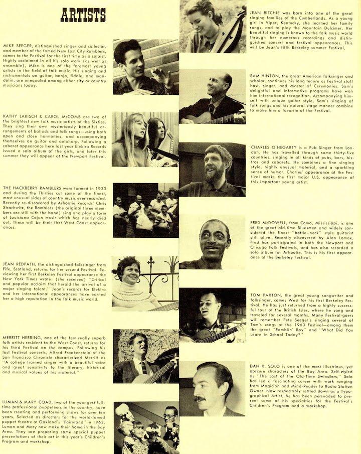 Berkeley Folk 1965-2