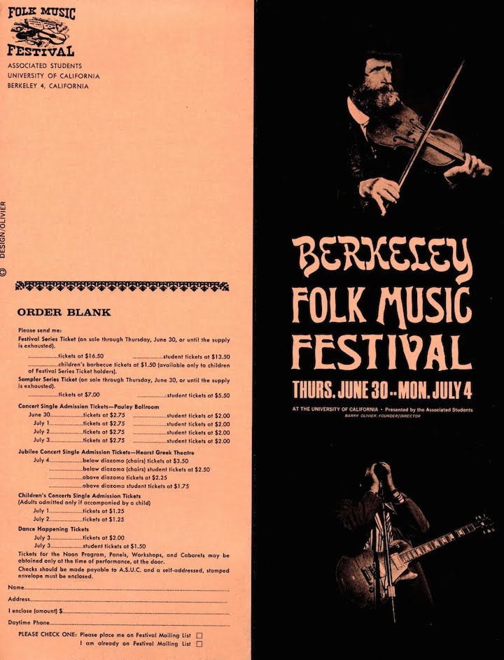 Berkeley Folk 1966-1