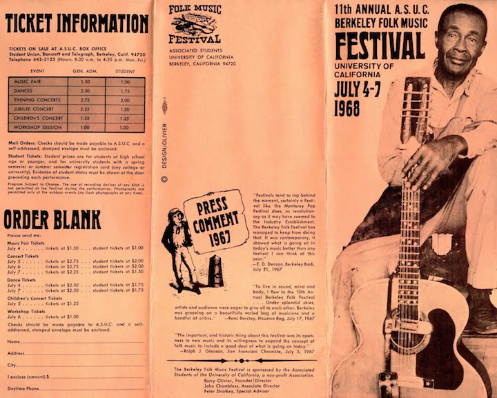 Berkeley Folk 1968-1