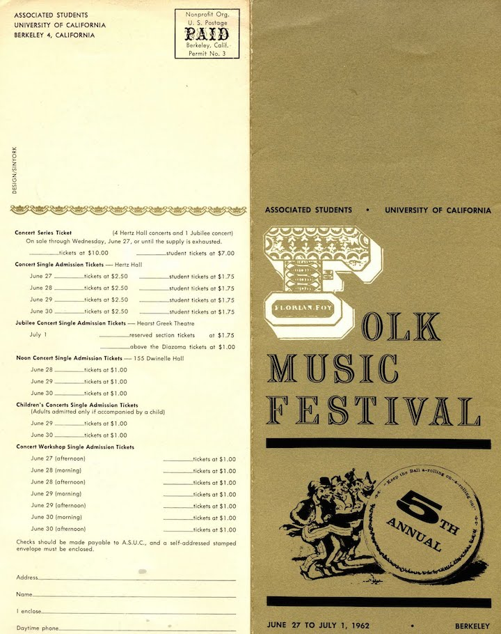 Berkeley Folk Festival 1962-1