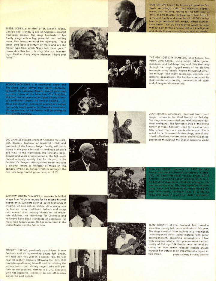 Berkeley Folk Festival 1962-3