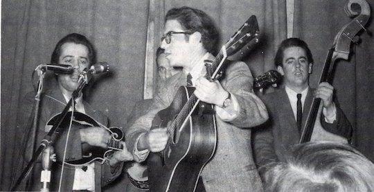 The Kentucky Colonels performing with Sandy Rothman at the Cablale (1964)