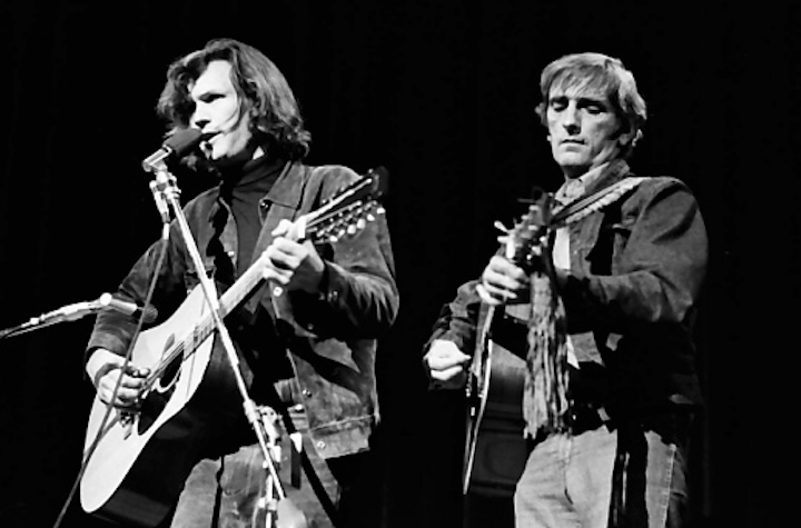 Kris Kristofferson and Harry Dean Stanton, 1969 Festival.  Photo by Jim Marshall