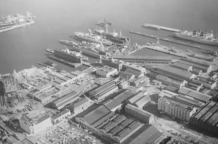 Bethlehem Steel, Pier 70, San Francisco in 1972