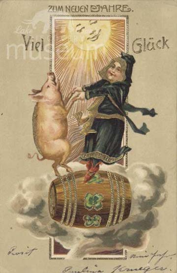 Pig on Barrel