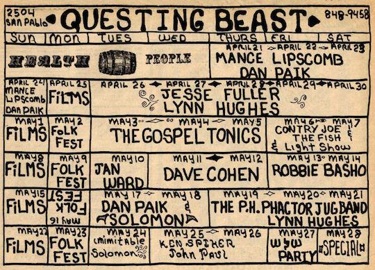 Questing Beast 19660417 On Calendar