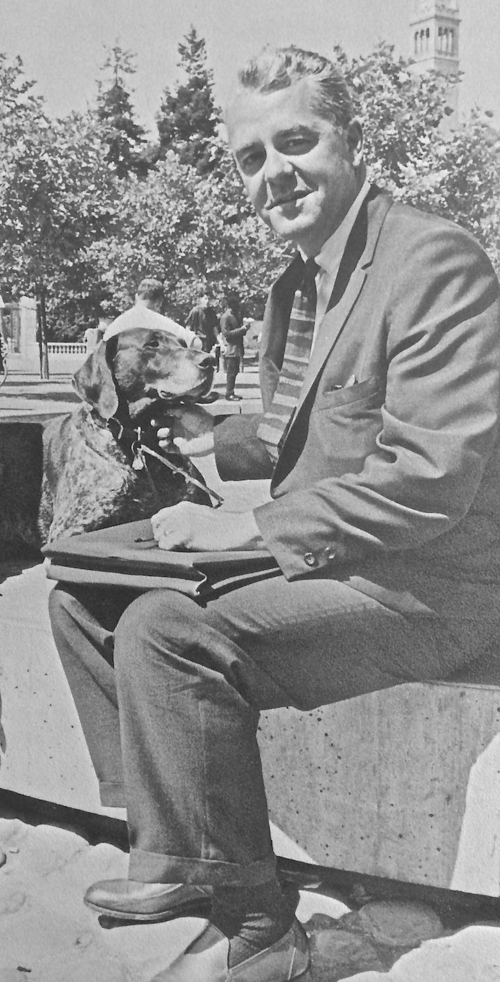Ludwig Welcomes Roger Heyns as Berkeley's New Chancellor, Blue and Gold 1966, page 101