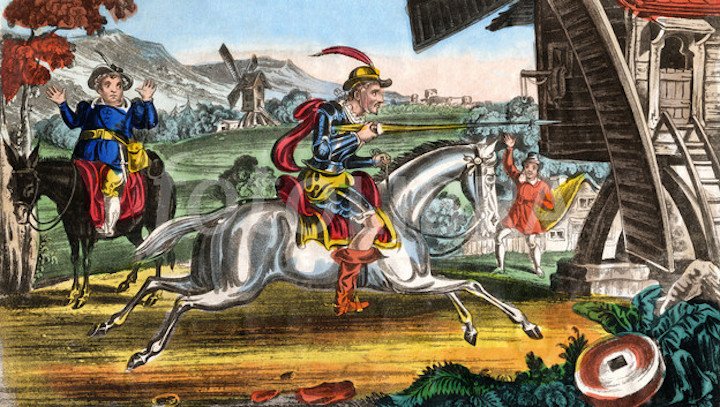 Don Quixote Attacking The Windmill