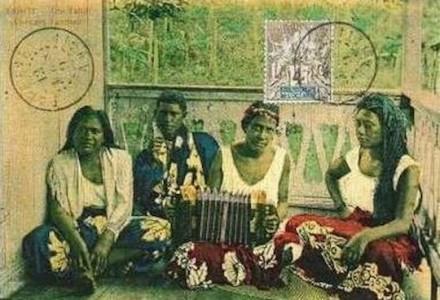 Old Tahiti postcard - Concert Tahitien