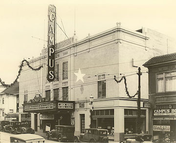 The Fox Campus Theater in December 1930 (Courtesy of Jack Tillmany)