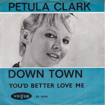 petula-clark-down-town-disques-vogue