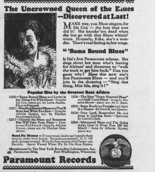 Bama Bound Blues-dallas-express-dallas-tex-vol-34-no-39-ed-1-saturday-august-4-1923-sequence-6-the-portal-to-texas-history-ida-cox